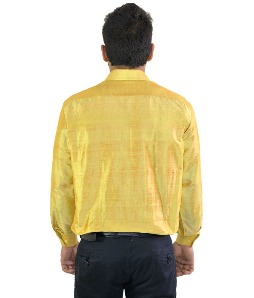 Manora Gold Silk Shirt .