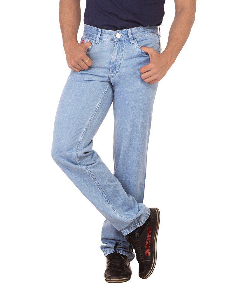 Race-Q Blue Basic Jeans For Men