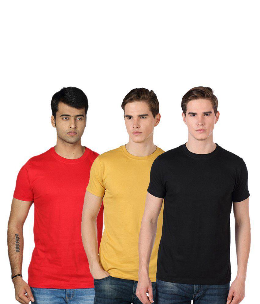 Rakshita's Mens round neck Tshirt Set of 3