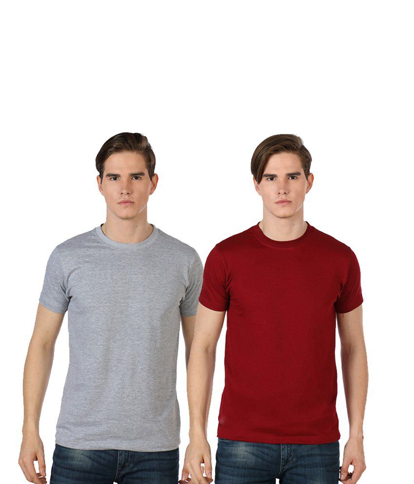 Rakshita's Mens round neck Tshirt Set of 2