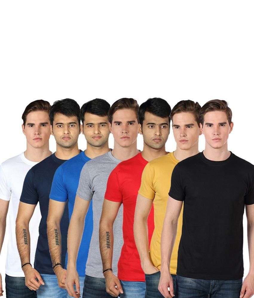 Rakshita's Mens round neck Tshirt Set of 7