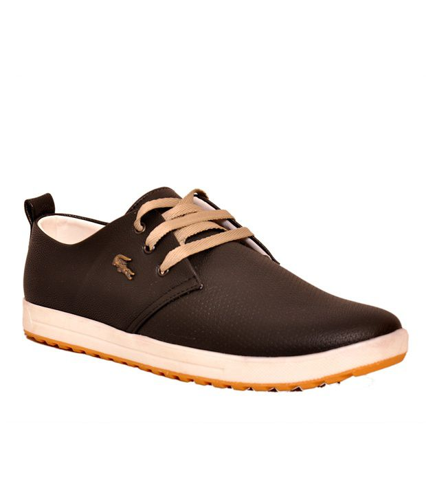 West Code Black Synthetic Leather Lifestyle Casual Shoes
