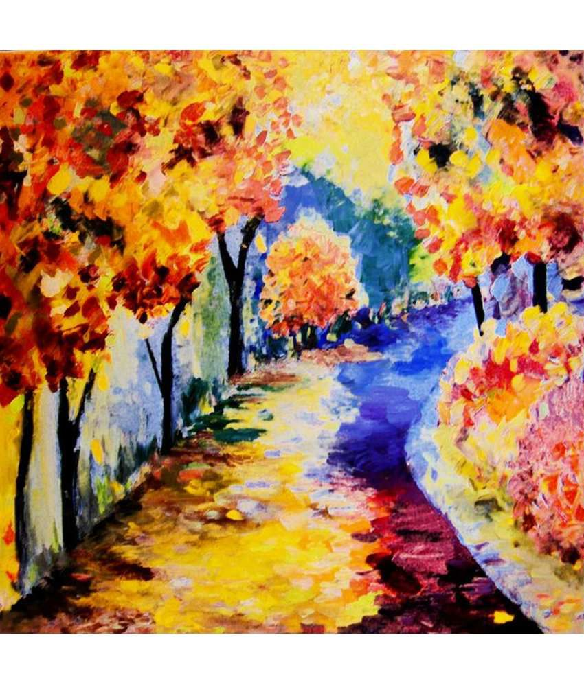 Wonder Images Pvt. Ltd. Beautiful Autumn Scenery Canvas Art