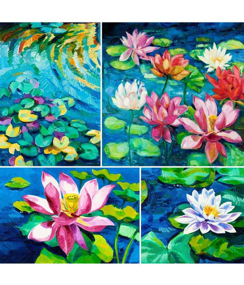 Wonder Images Pvt. Ltd. Pretty Lotus In Lake Canvas Art