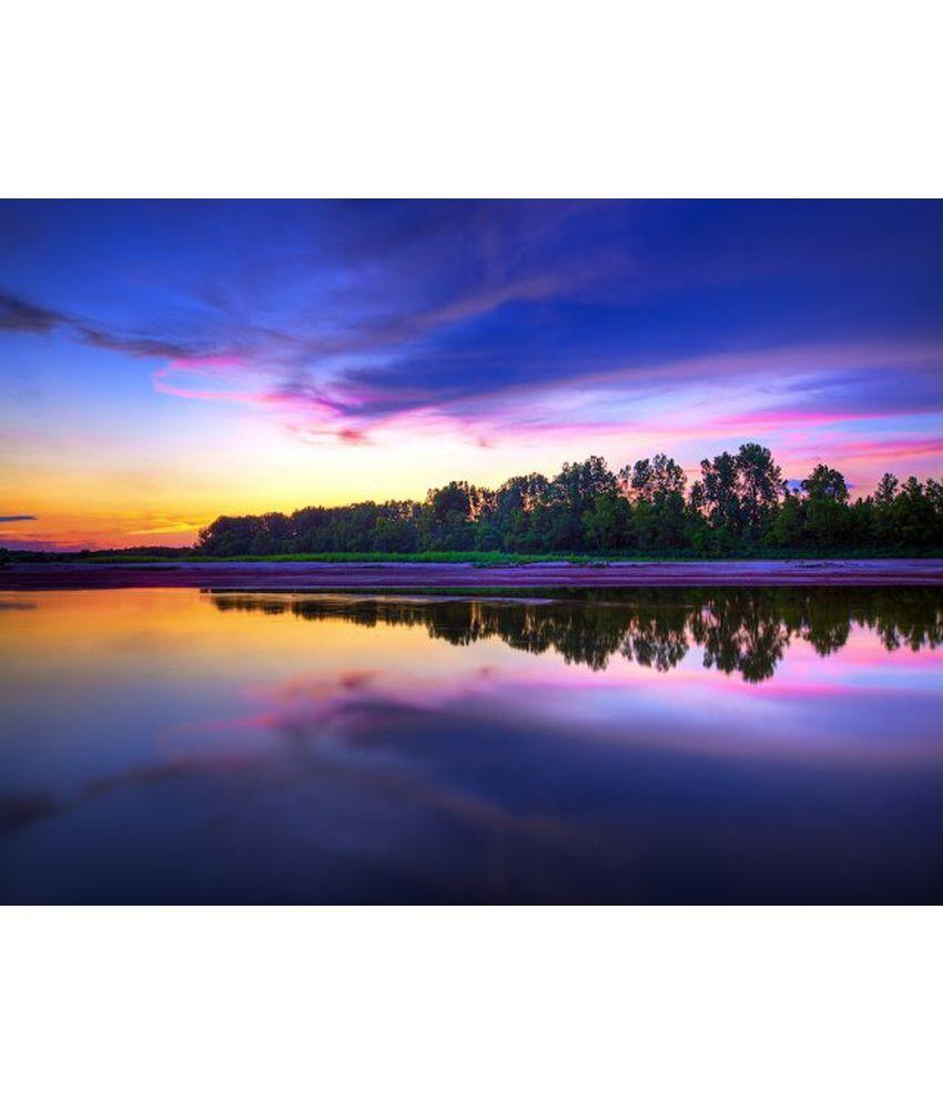 Wonder Images Pvt. Ltd. Sunset At Lakeside Canvas Art