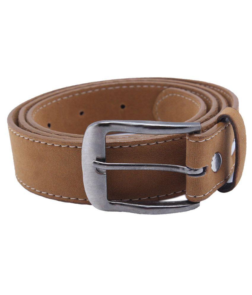 Y & J Tan Non Leather Stylish Belt