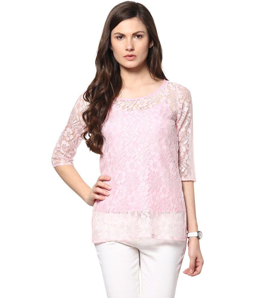 new styles 28230 8757a Abiti Bella Pink Cotton Tops