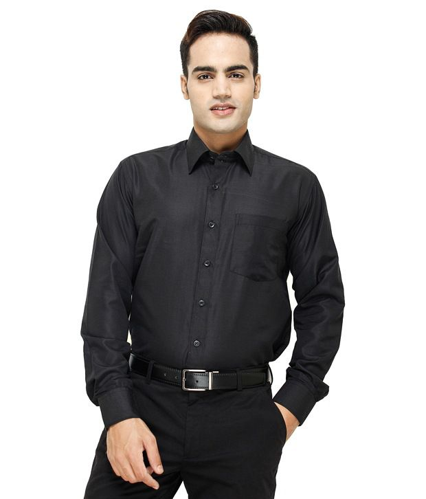 Mall4all All Black Shirt With  Watch