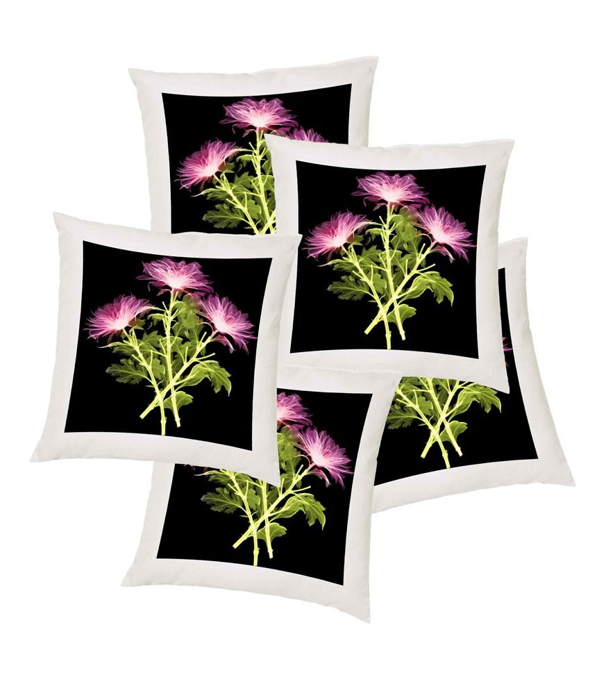 Snooky Colorful Digitally Printed 5Pcs Cushion Covers