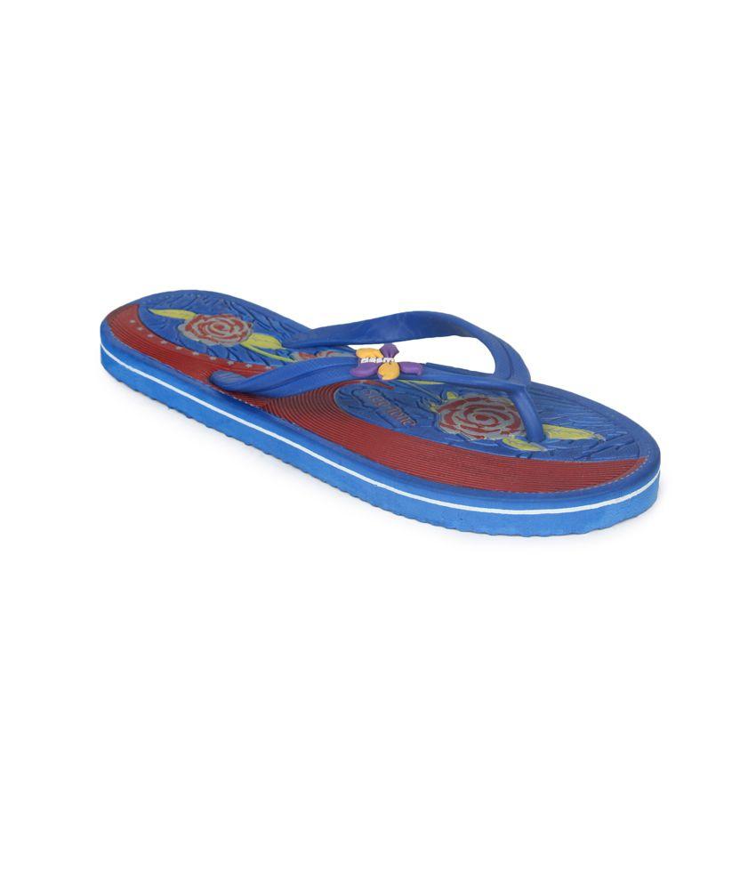 11e Blue Flat Hawai Flip Flops