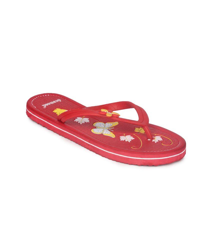 11e Red Flat Hawai Flip Flops