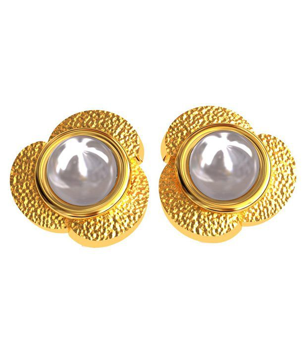 BlueCarats 18K Gold BIS Hallmark, Diamond & Gemstone Certified Studded Colour Spark Earrings