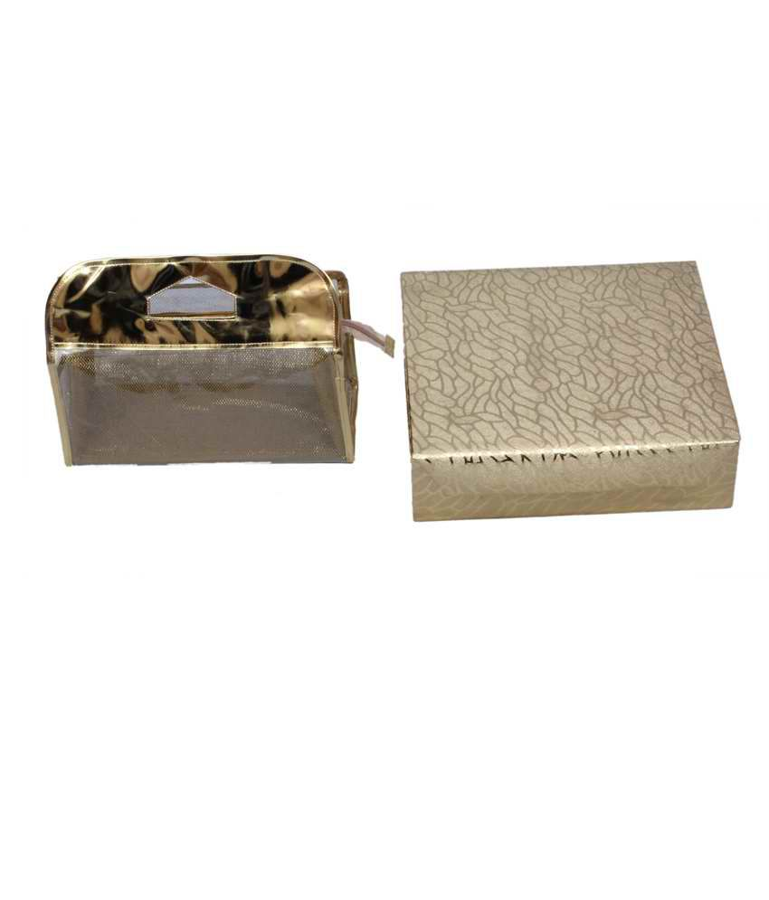 Kuber Industries Golden bangle Box 4 rod & Vanity Box 2 pcs Combo