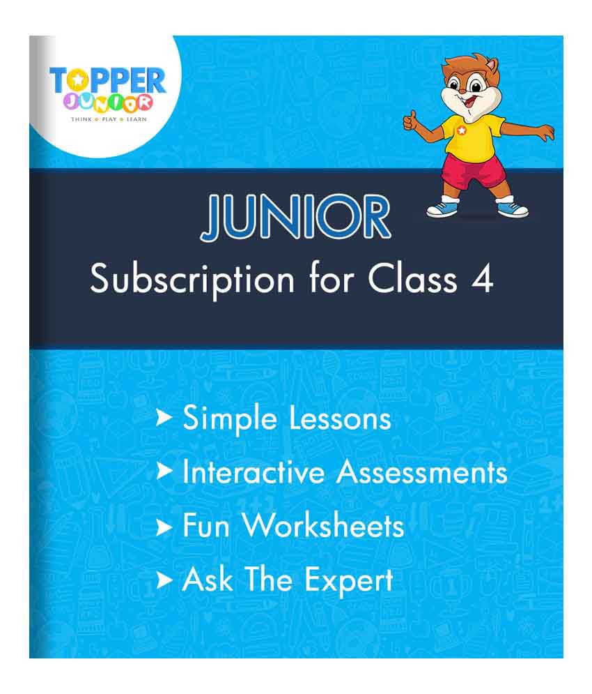 TopperLearning Junior Annual Online Subscription for Class 4: Buy