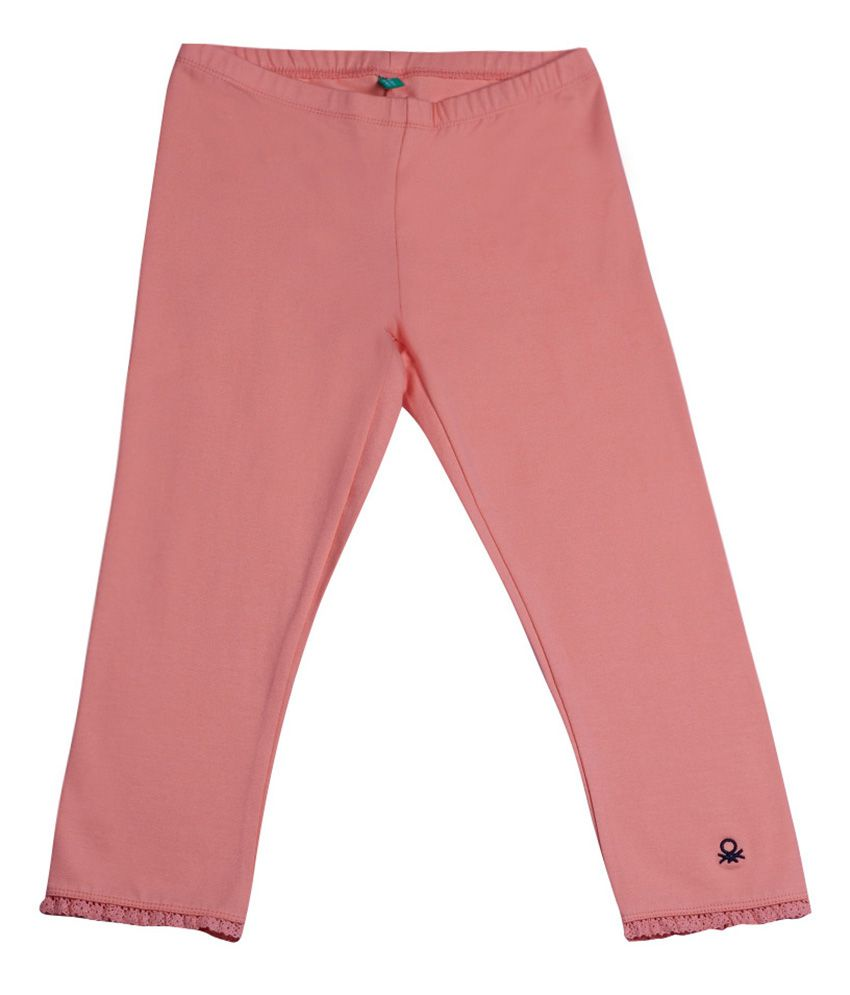 United Colors of Benetton Solid Coral Casual Solid Capri