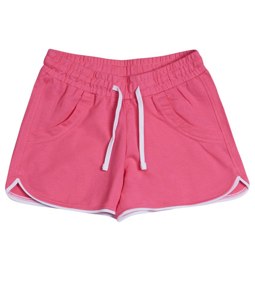 United Colors of Benetton Solid Pink Casual Fluo Knitted Shorts