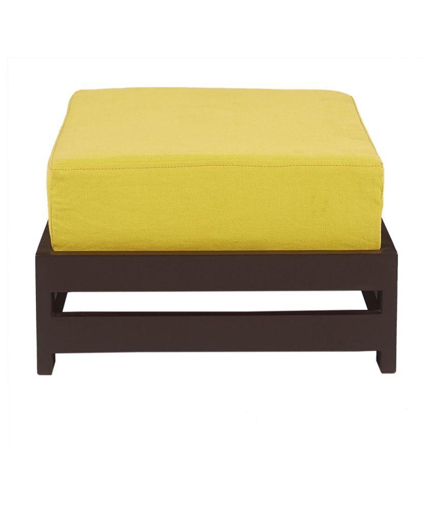 ARRA Jinjer Contemporary Low Stool - Lemon Yellow