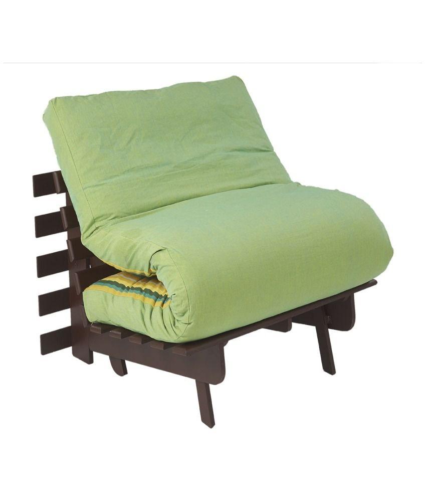 Arra Single Futon Sofa Cum Bed Folding Beds With Mattress