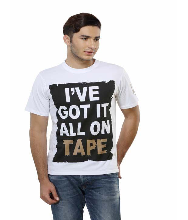 Delhi Daredevils White Printed Cotton Round Neck T-shirt