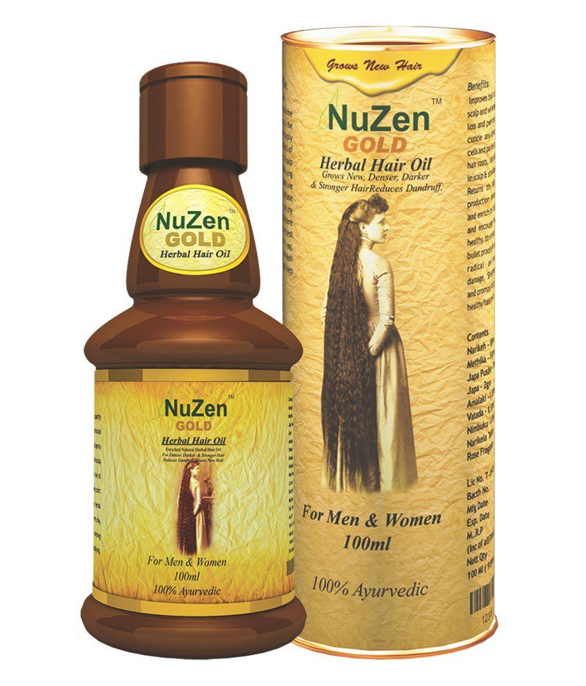 Nuzen Gold Herbal Hair Oil A Natural Hair Fall Treatment