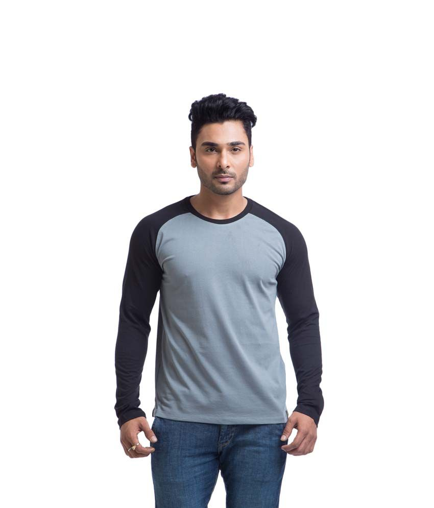Cult Fiction Gray Cotton Round Neck Full Sleeves Shirt