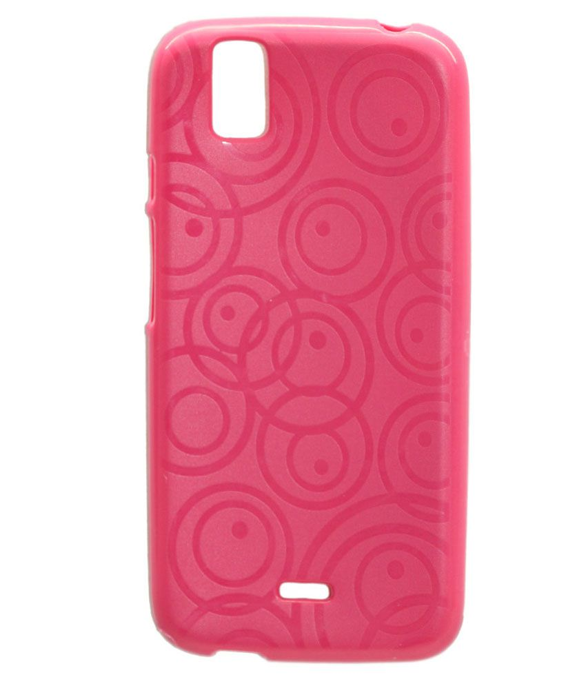 pretty nice cffdb 8c7f8 Gizmofreaks Circular Design Back Cover for Karbonn Sparkle V A1 - Pink