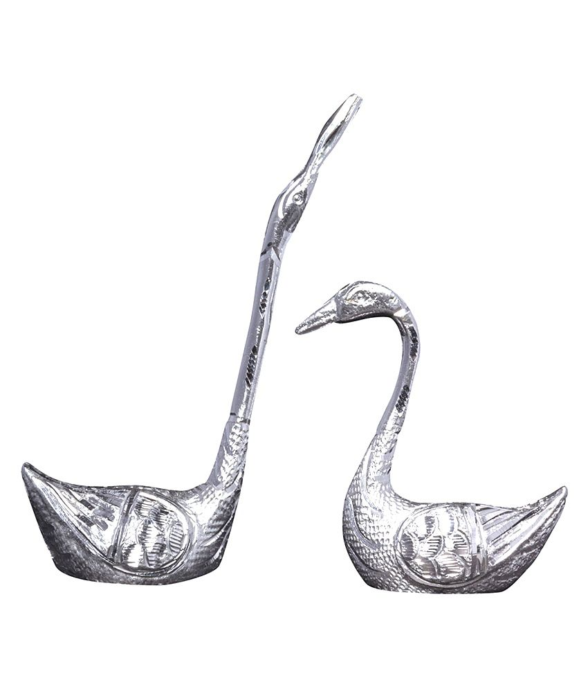 Mangal Handcrafted White Metal Duck Set 8.5k