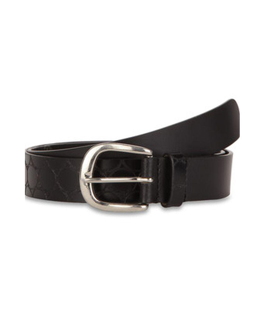 Paradigm Design lab Black Casual Leather Belt