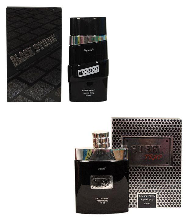 Ramco Black Stone Eue De Fabric Apparel Spray and Steel Tra...