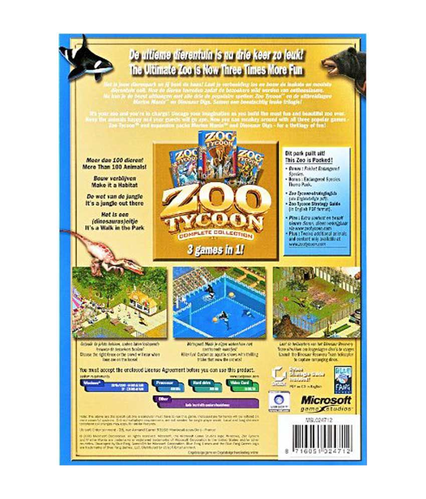 Buy Zoo Tycoon - Complete Collection - PC Online at Best Price in