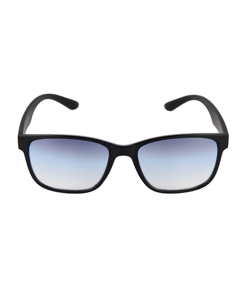 5cbbe5168ec7 David Blake 52018 Size-56 Black & Blue Wayfarer Sunglasses - Buy ...