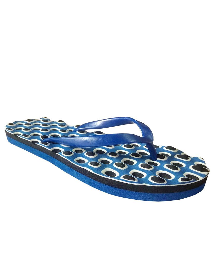 Unispeed Accupressure + Foot Massage Flipflops (Navy)