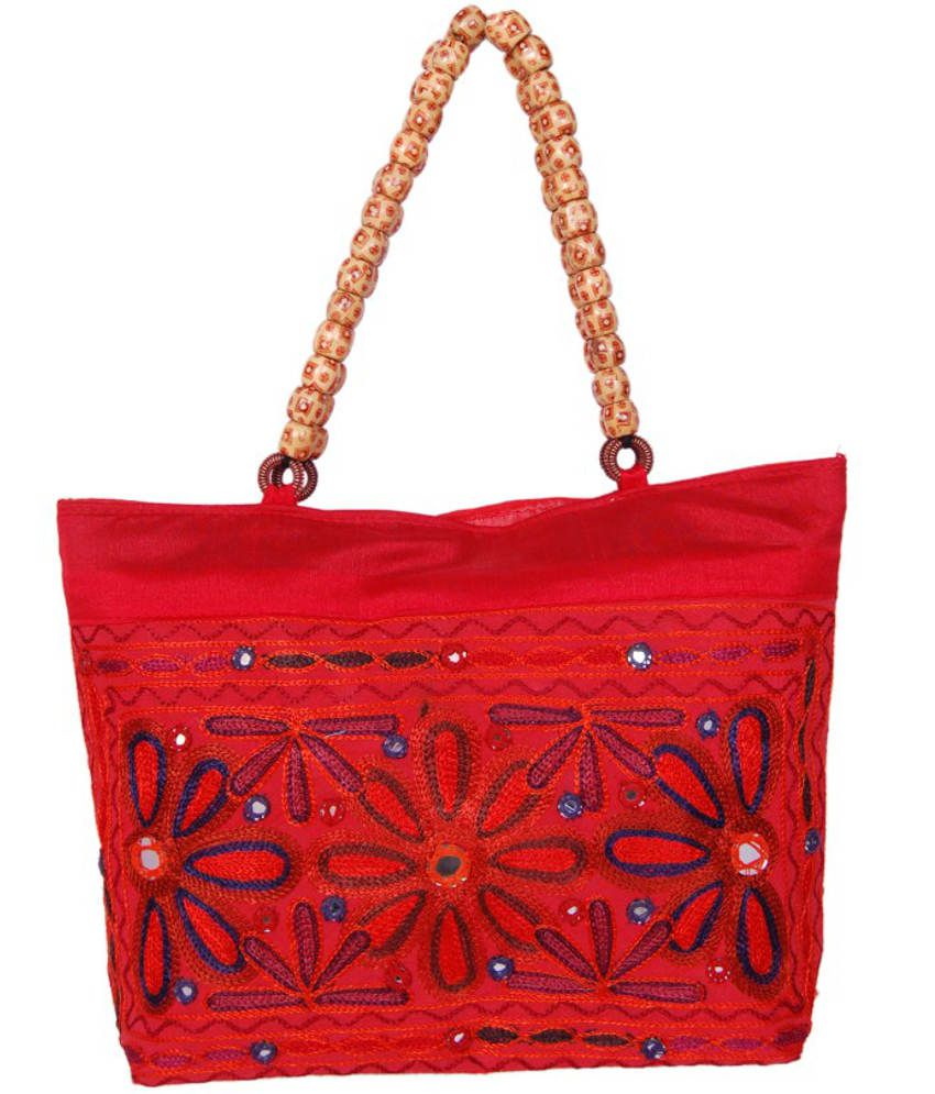 Womaniya Woman833 Red Tote Bags