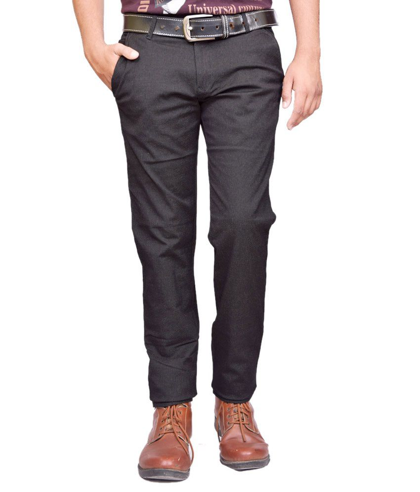 British Terminal Black Chinos