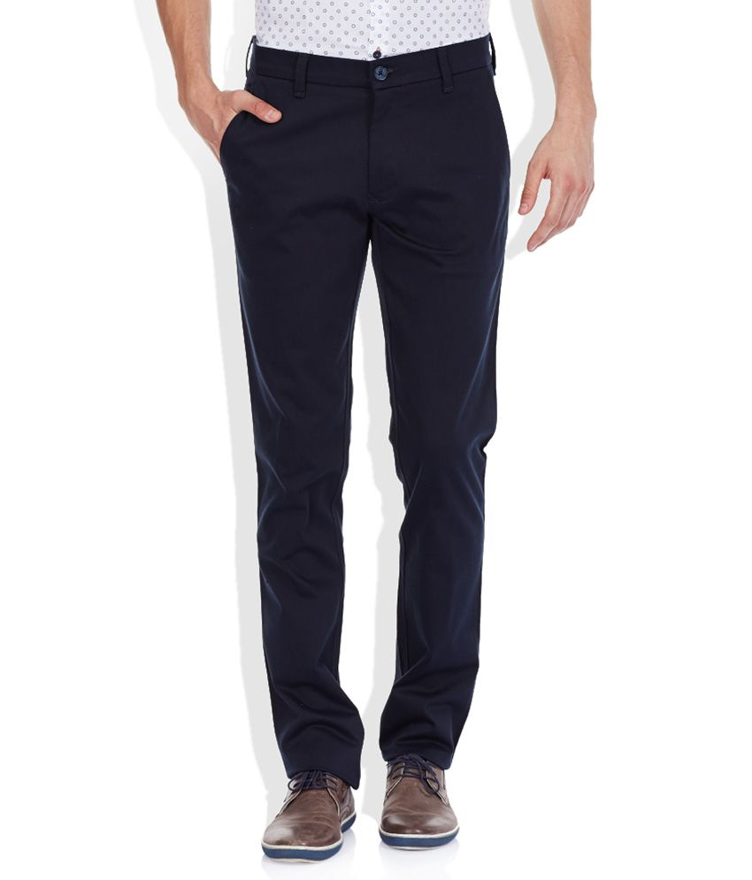 Colorplus Navy Slim Trouser