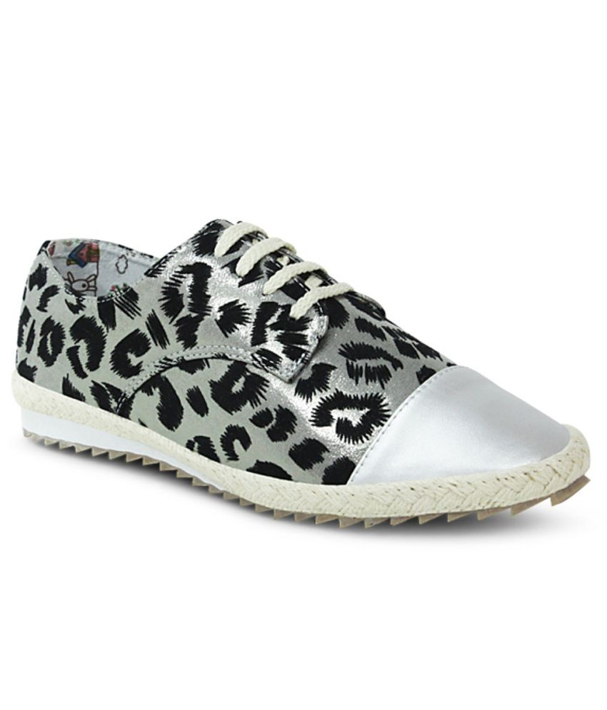 Get Glamr Silver Comfortable Casual Shoes
