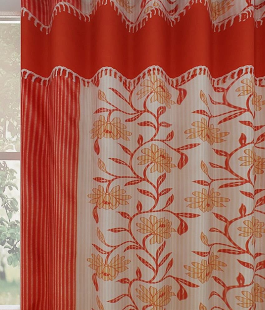 Rust Shower Curtain Nature Themed Nest And Yellow