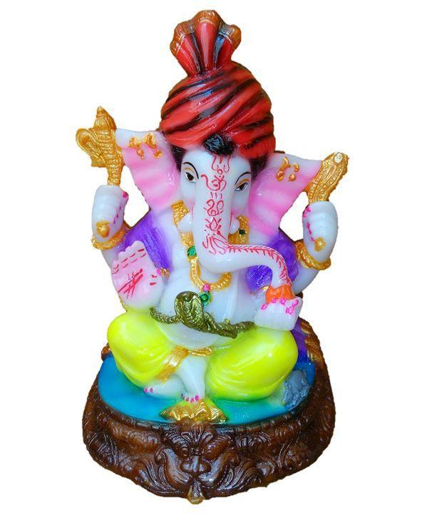 JaipurCrafts Lord Ganesha With Beautiful Turban