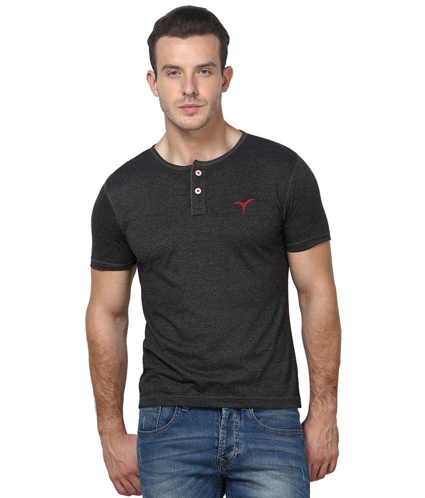 Monteil & Munero Half Sleeve T-Shirt Dark Gray