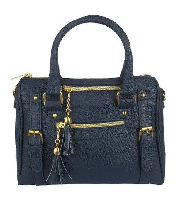 OneLook Navy Women's Handbag Faux Leather Ladies Shoulder ...