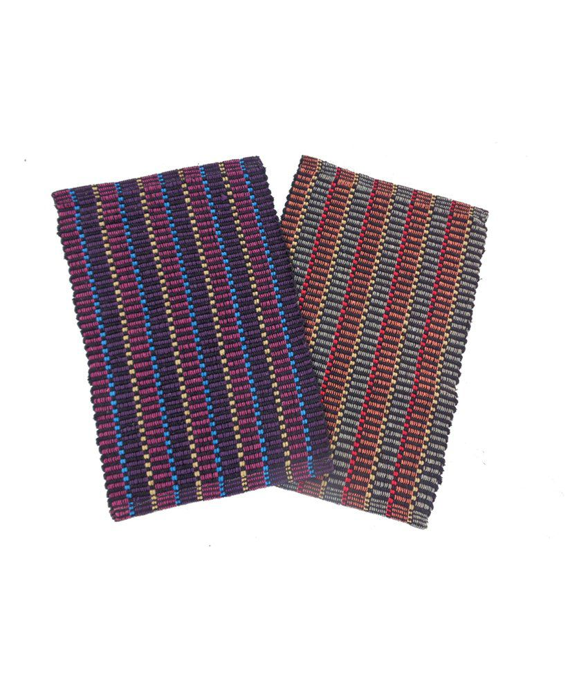 Fab Home Multicolour Cotton Floor Mats Set Of 2 Buy Fab Home Multicolour Cotton Floor Mats