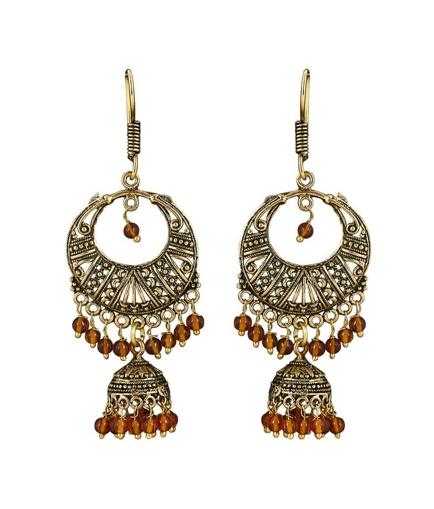 Kaizer High Quality German Silver Jhumki Earring -DS-11