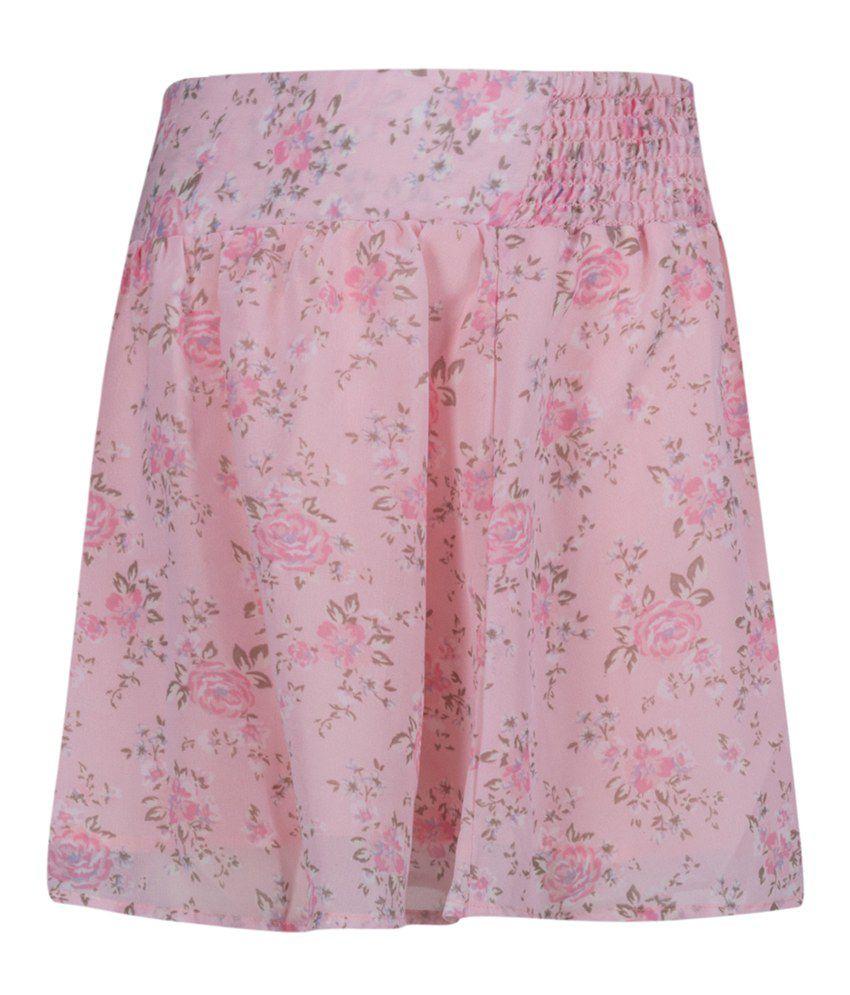 Miss Alibi Pink Cotton Skirt