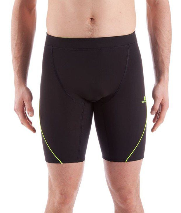 Domyos Black & Green Cycling Shorts for Men