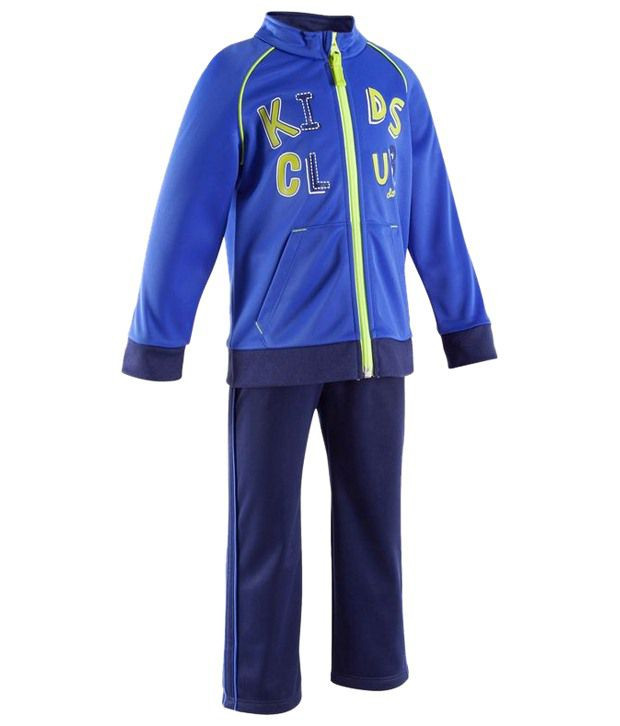 Domyos Blue Fitness Tracksuit for Boys