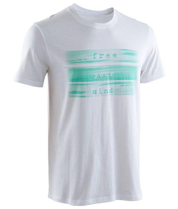 Domyos White Sports T Shirt for Men