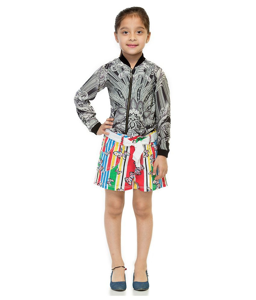Oxolloxo Cotton Printed Shorts For Girls