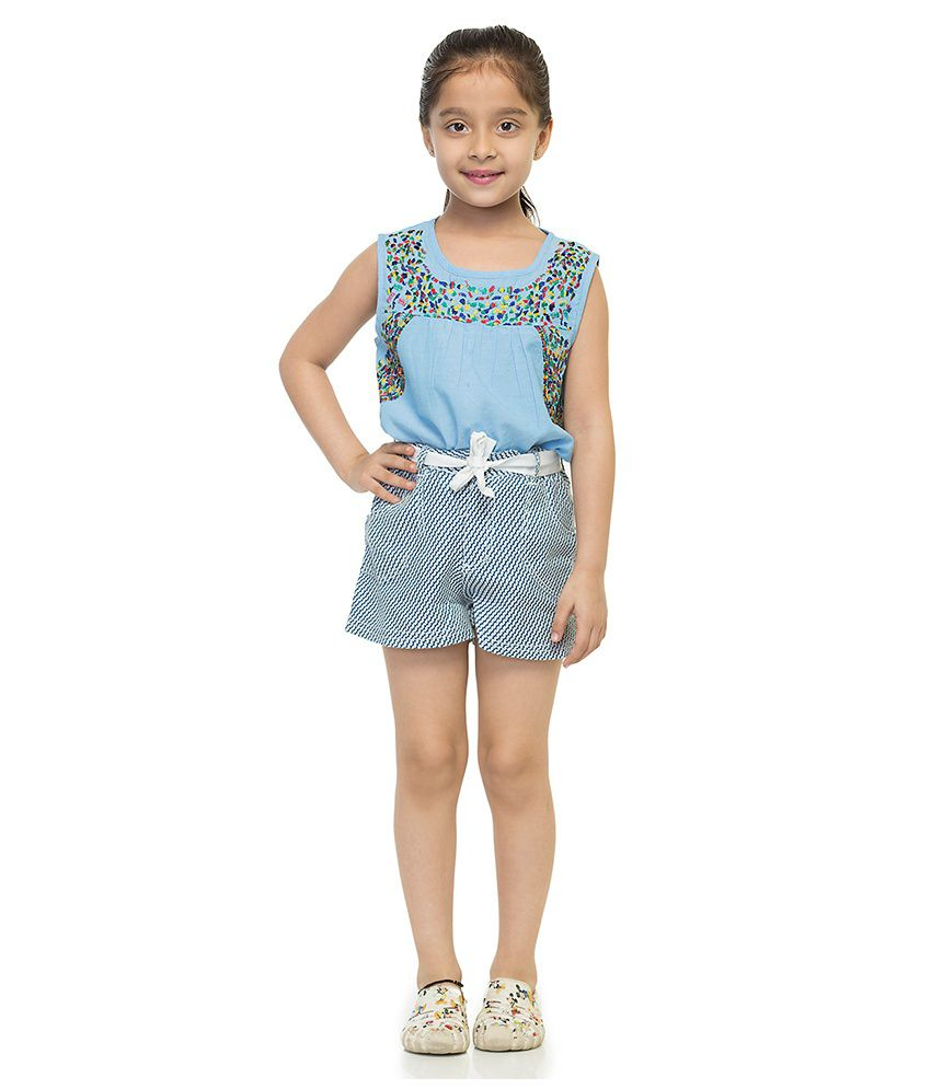 Oxolloxo Viscose Printed Shorts For Girls