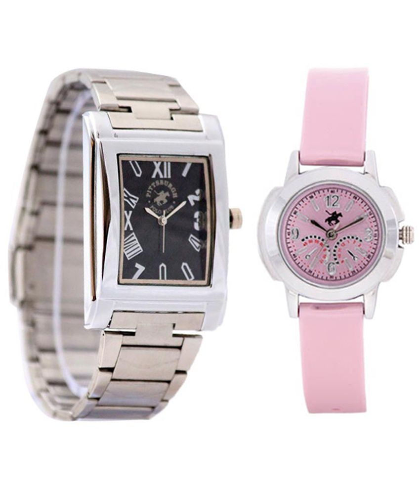 25683ec5c7 Pittsburgh Polo Club PBPC-CB-9267 Couple Watches Price in India: Buy  Pittsburgh Polo Club PBPC-CB-9267 Couple Watches Online at Snapdeal