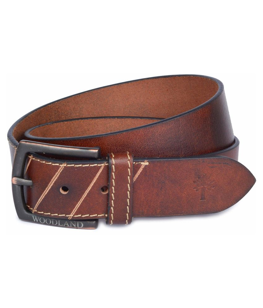 Woodland Men's Leatherite Stylish Belt In Brown